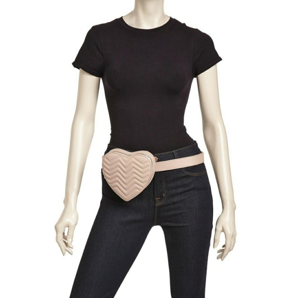 NWOT Maje quilted heart 💗 shaped waist belt